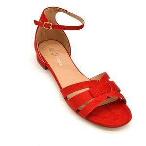 Forever Encircle-02 Ankle Buckle Sandal 8 New